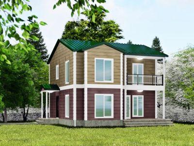 140 m² İki Katlı Prefabrik Ev