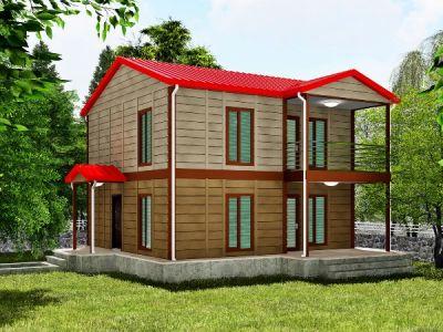 134 m² İki Katlı Prefabrik Ev