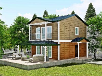 130 m² İki Katlı Prefabrik Ev