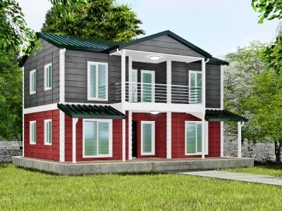 Kalyara 158 m² İki Katlı Prefabrik Ev