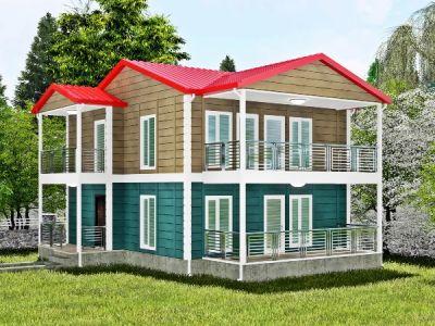 168 m² İki Katlı Prefabrik Ev