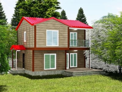 110 m² İki Katlı Prefabrik Ev