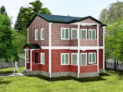 115  m² İki Katlı Prefabrik Ev